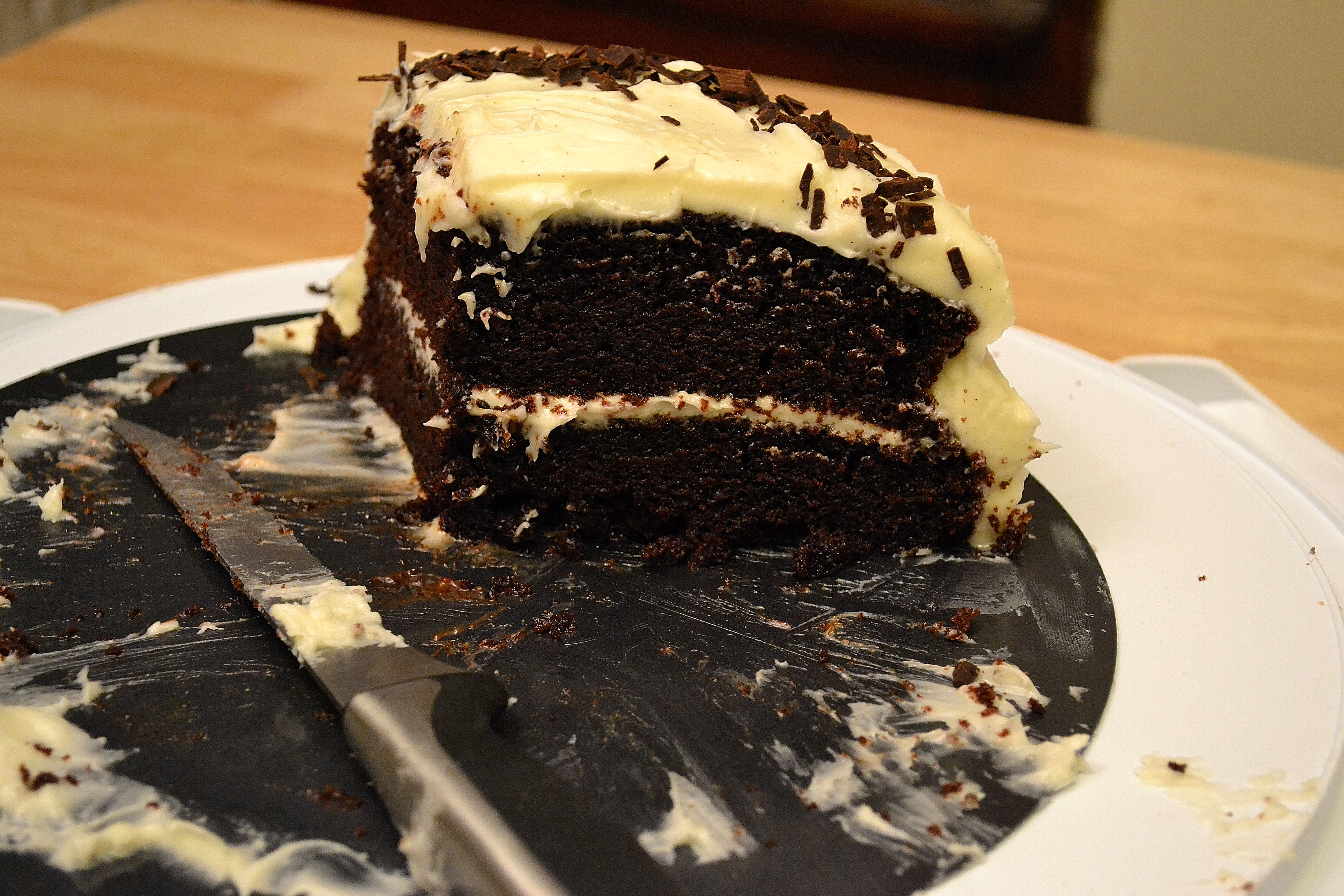 Sour Cream-Chocolate Cake with Vanilla Bean Frosting | THE ...