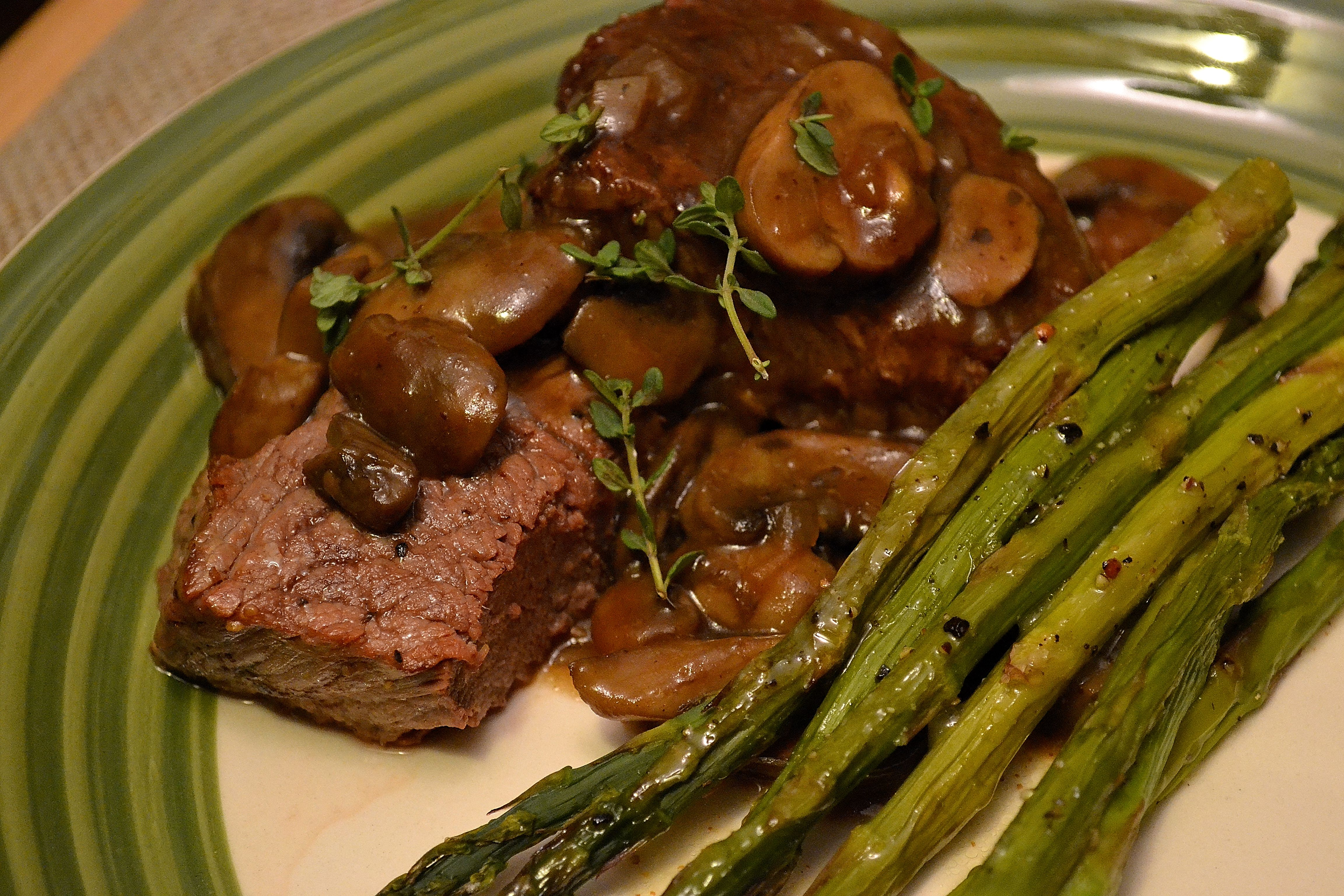 Pan-Seared Steaks with Port-Mushroom Sauce | THE CLASSICAL KITCHEN