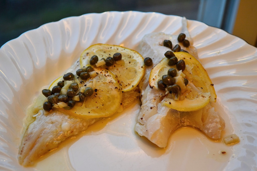 Baked haddock with lemon caper sauce the classical kitchen for Lemon fish sauce recipe
