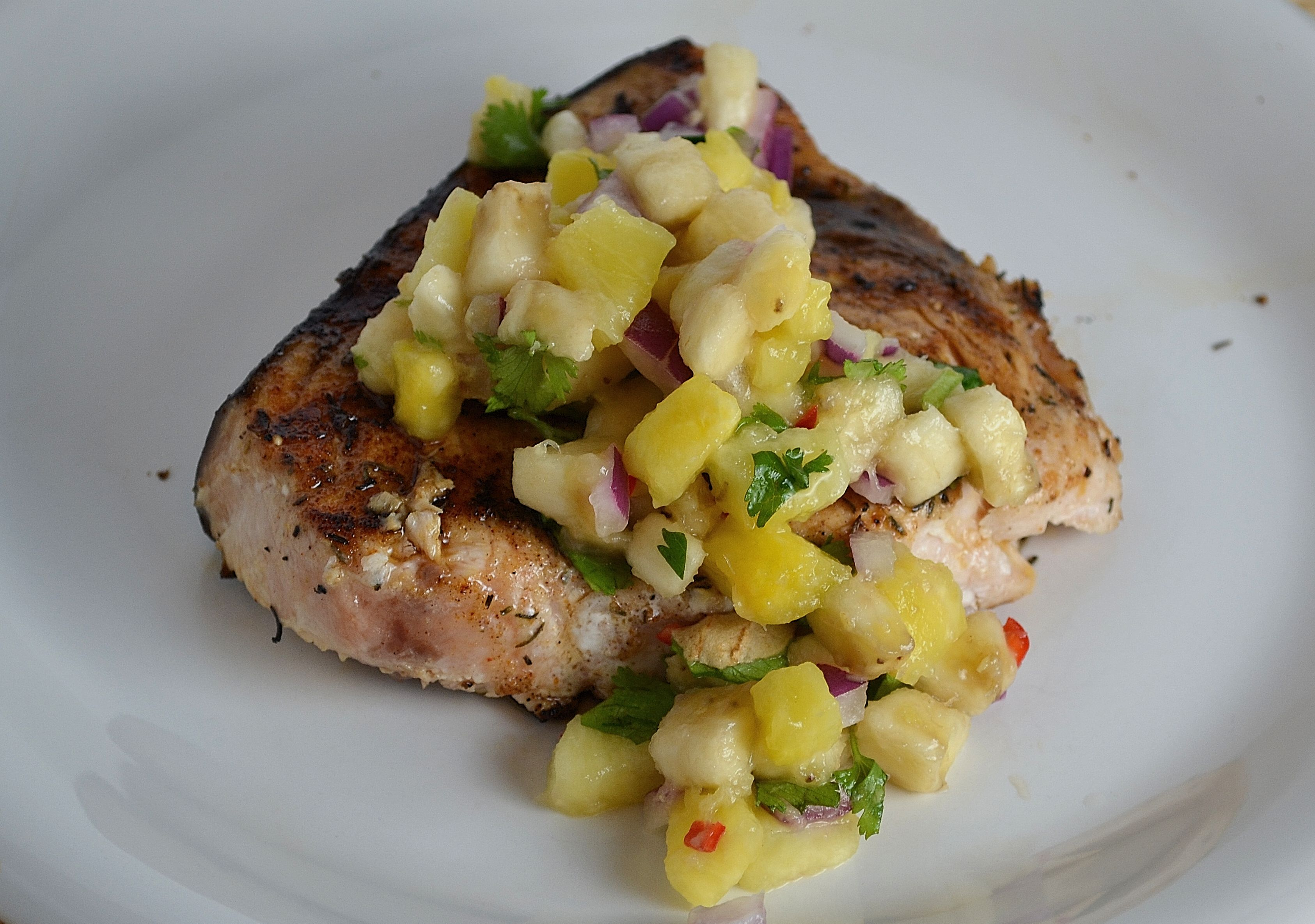 Grilled Swordfish with Banana-Pineapple Salsa 2