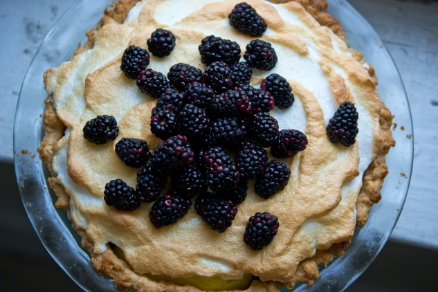 Lime and Blackberry Meringue Pie | THE CLASSICAL KITCHEN