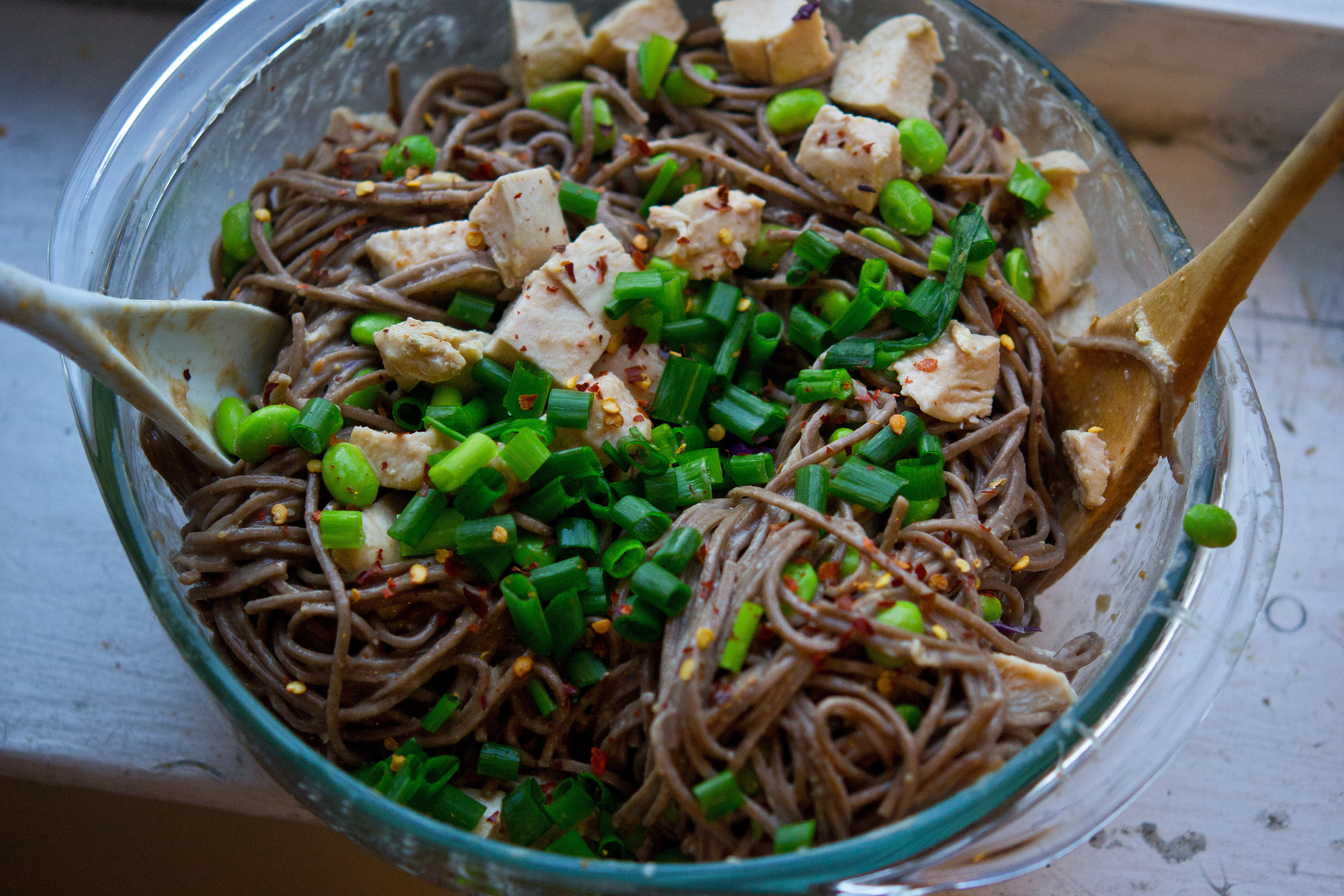 Spicy Soba Noodles with Chicken in Peanut Sauce THE CLASSICAL